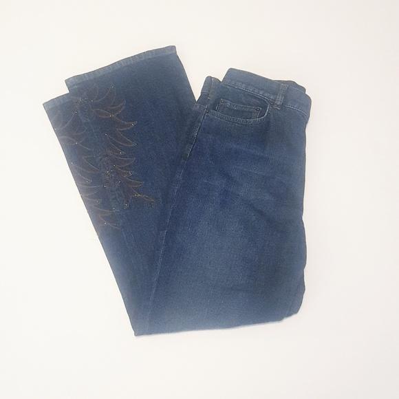 Lauren Jeans Co. | Studded Denim Bootcut Jeans 6P